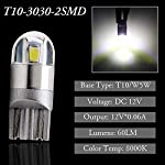 GLL 10pcs White T10 501 LED Bulb 2-SMD 3030 W5W 194 168 2825 Wedge T10 Light Car Interior Dashboard Bulb Sidelight Boot…