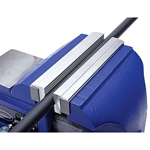 Eastwood 6 in. Aluminum Bench Vise Soft Jaws with Strong Magnetic Universal Barrel Covers (Aluminum Bench Vise)