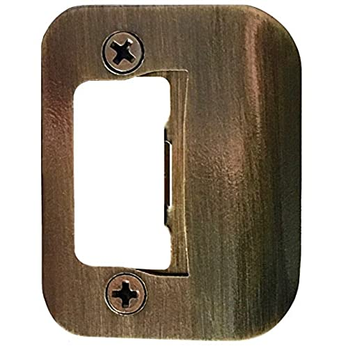 GATOR Door Latch Restorer - Strike Plate (Antique Brass) - Antique Door Plates: Amazon.com