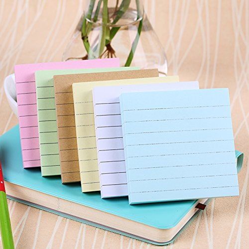 Office Stationery Sticky Notes Square Soild Color Memo Pad 80 Pages Sticker Bookmark Point by Office & School Supplies YingYing (Image #6)