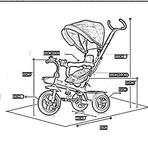 Tricycle Jouet Vélo Pj Enfant Chariot De Bébé jRA3L54q