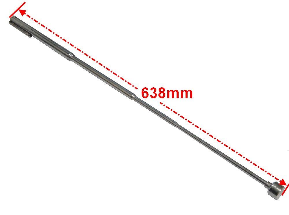 Aerzetix Paletta telescopico da 63/cm con punta magnetica