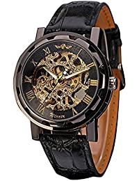 Men's Mechanical Wrist Watch with Elegant Skeleton Dial,...