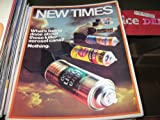 img - for New Times Magazine (Killer Aerosol Cans, March 7 , 1975) book / textbook / text book