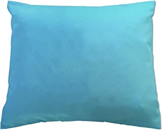 product image for SheetWorld Crib Toddler Pillow Case, 100% Cotton Jersey Knit, Solid Aqua Jersey Knit, 13 x 17, Made in USA