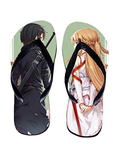 Bromeo Sword Art Online Anime Unisex Flip Flops Chanclas 137