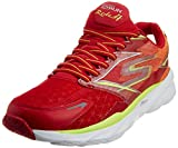Skechers Performance Men's Go Run Ride 4 Running Shoe, Red/Lime, 10.5 M US
