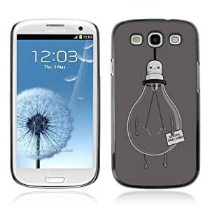 Designer Depo Hard Protection Case for Samsung Galaxy S3 / Light Bulb Goodbye