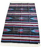 Del Mex (TM) Hand Woven Mexican Diamond Falsa Blanket