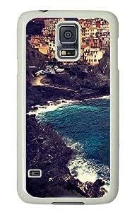 Beautiful Manarola Custom Samsung Galaxy S5/Samsung S5 Case Cover Polycarbonate White