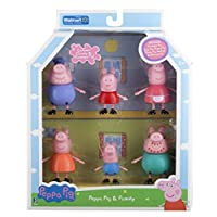 Peppa Pig y figura familiar, abuelo, abuelita, juego exclusivo de 6