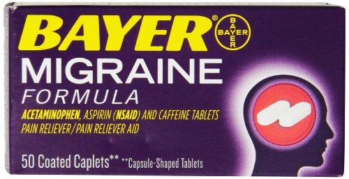 Bayer Migraine Les Caplets Formula, 50 comte