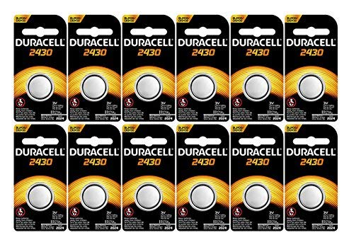 12-Pack Duracell 2430 Batteries 3.0 Volt Lithium Coin Button ()