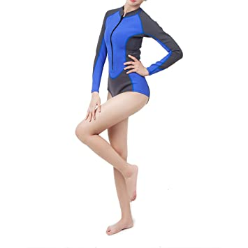 e024debadc JINHONGH Combinaisons de Surf Maillots de Bain pour Femmes Fixation  Isolation Plongée Excellente Protection Solaire Écran