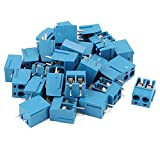 uxcell 30Pcs 2 Way 2P PCB Mount Screw Terminal Block Connector 5.08mm Pitch