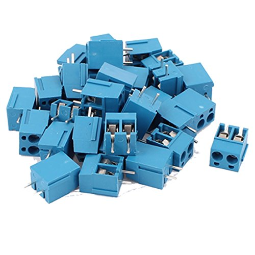 uxcell 30Pcs 2 Way 2P PCB Mount Screw Terminal Block Connector 5.08mm Pitch (Pcb Terminal)