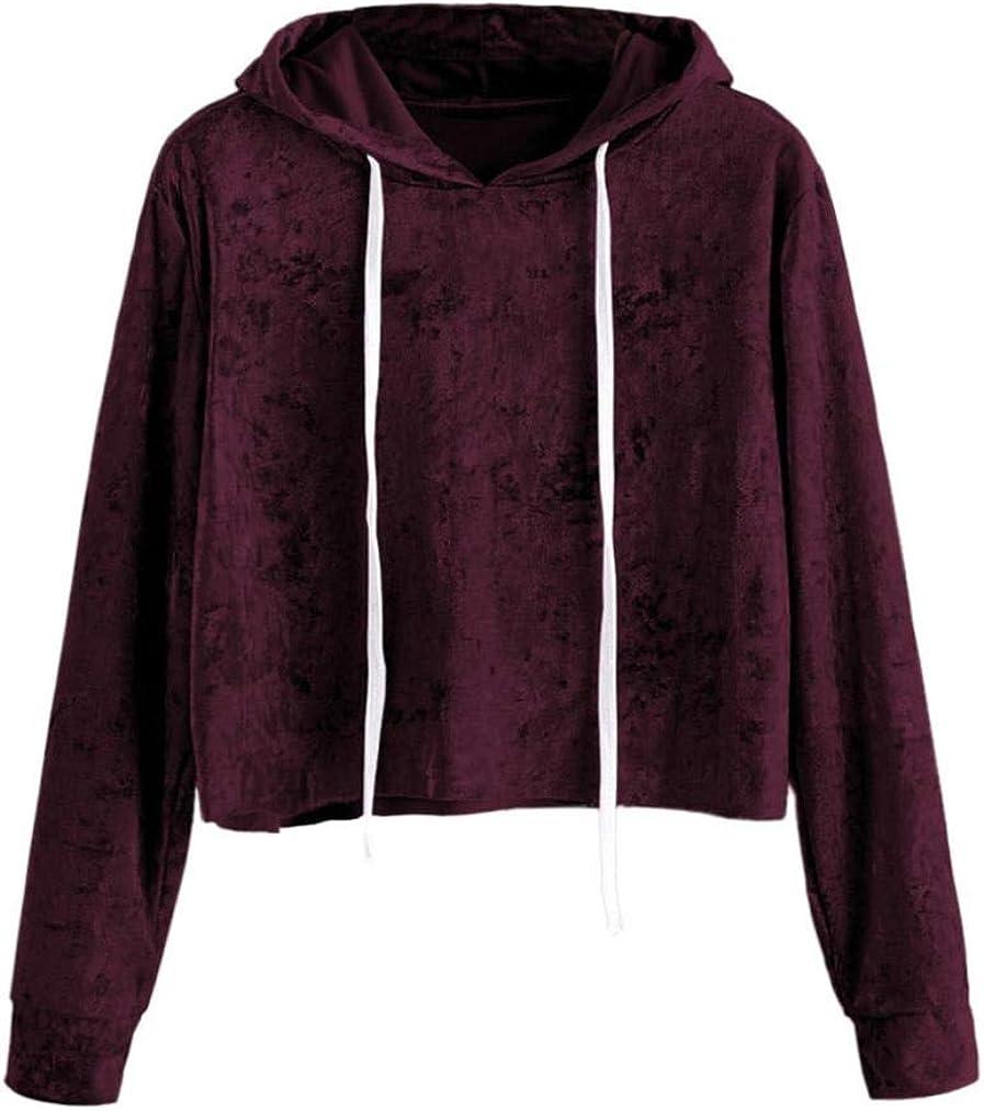 TWIFER Damen 2018 Neue Gedruckt Langarm Kurze Sweatshirt Hoodies Crop Pullover Herbst