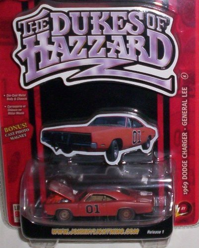 The Dukes of Hazzard ~ 1969 Dodge Charger - General Lee (Dirty Version) with Bonus Cast Photo Magnet ~ Release (The Dukes Of Hazzard Cast)