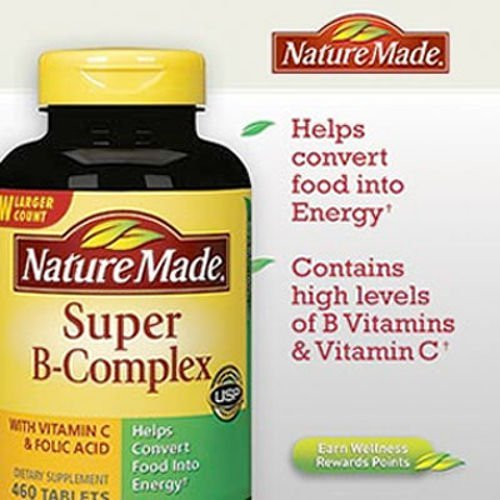 Tablets B-complex Super - Nature Made Super B-Complex (460 Tablets)