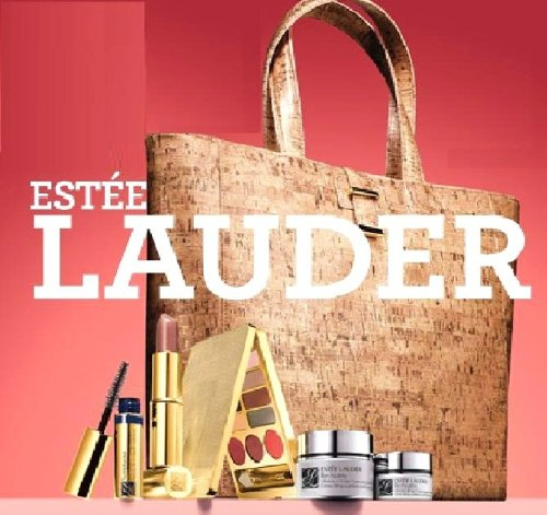 ESTEE LAUDER LUXURY $195 GIFT SET JANUARY 2012: RE-NUTRIV FACE & EYE +LIPSTICK +MASCARA +XL MAKEUP PALETTE +SUPERB TOTE BAG.