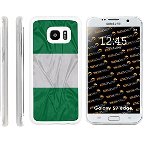 Rikki Knight Nigeria Flag Design Samsung Galaxy S7 Edge Case Cover (Clear Rubber with front Bumper Protection) for Samsung Galaxy S7 Edge ONLY Sales