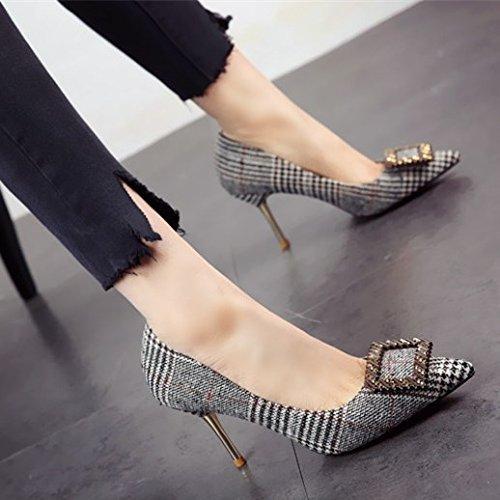 FLYRCX Damen scharfe dünnen flachen einzelne Schuhe Schuhe Schuhe Mode sexy High Heel party Schuhe 8999ef