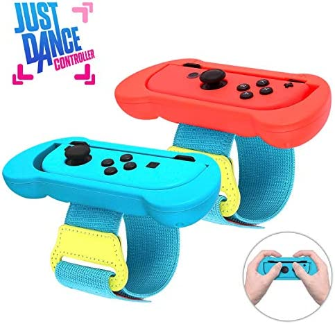 Just Dance 2020 Wrist Band 2020 Latest Upgraded 2 in 1 Dance Band Wrist band for Nintendo Switch Adjustable Hook Loop Elastic Strap for Joy Cons Controller 2 Pack