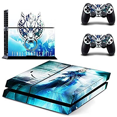 Final Fantasy VII Decal Skin Sticker for Playstation 4 PS4 Console+Controllers from Huizhou City Junsi Electronics Co., Ltd.