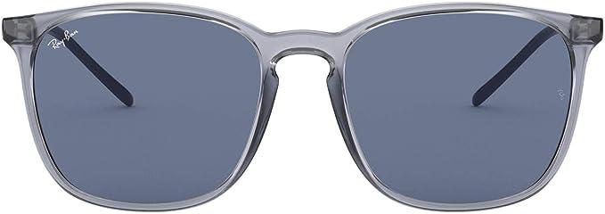 Ray Ban Herren 0rb4387 Sonnenbrille Blau Transparente Blue 56 Bekleidung