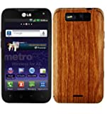 LG Connect 4G Screen Protector + Light Wood Full Body, Skinomi TechSkin Light Wood Skin for LG Connect 4G with Anti-Bubble Clear Film Screen