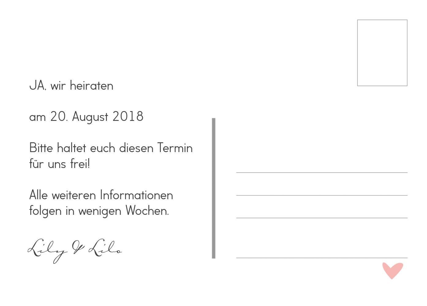 Save-the-Date Pärchen - - - Frauen, 30 Karten, Weiß B07B6NHC98 Postkarten Sehr gute Qualität fc35f8