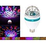 Happy-hongtai Rotating Strobe LED Crystal Stage Light for Disco Party Club Bar Dj .Ball Bulb Multi Changing Color [Energy Class A+++]