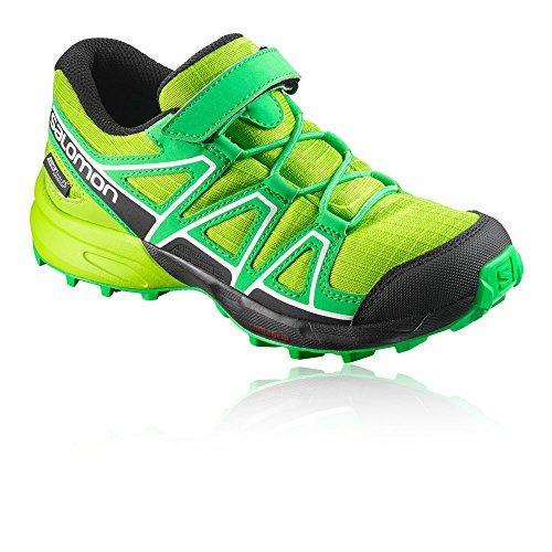 Salomon Speedcross CSWP K, Zapatillas de Senderismo Para Niños Verde (Lime Green/Classic Green/Black 000)