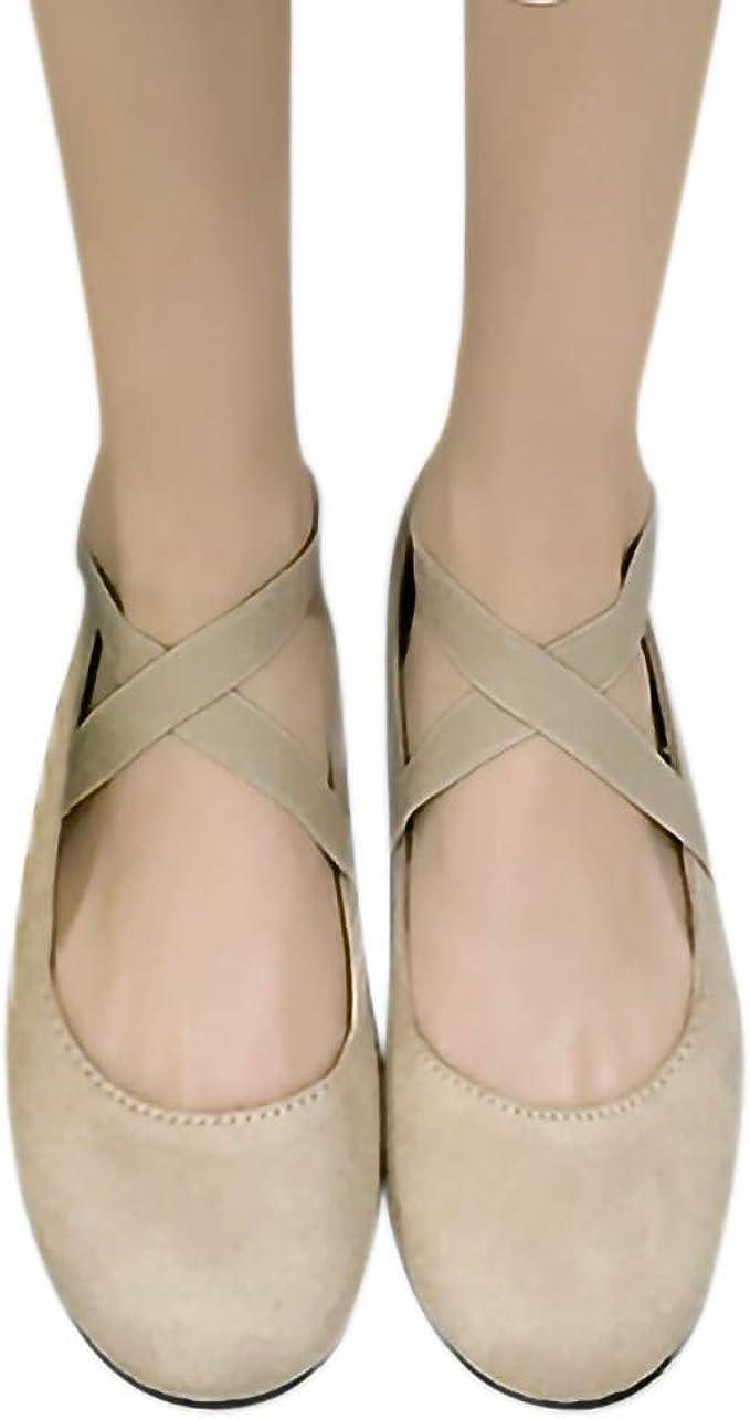 Damen Ballerinas Flache Knöchelriemen Slippers Halbschuhe Party Schuhe Loafers