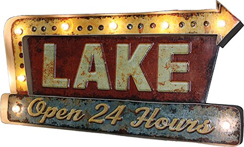 Price comparison product image Rivers Edge Products Rivers Edge 2220 Lake LED Metal bar Sign