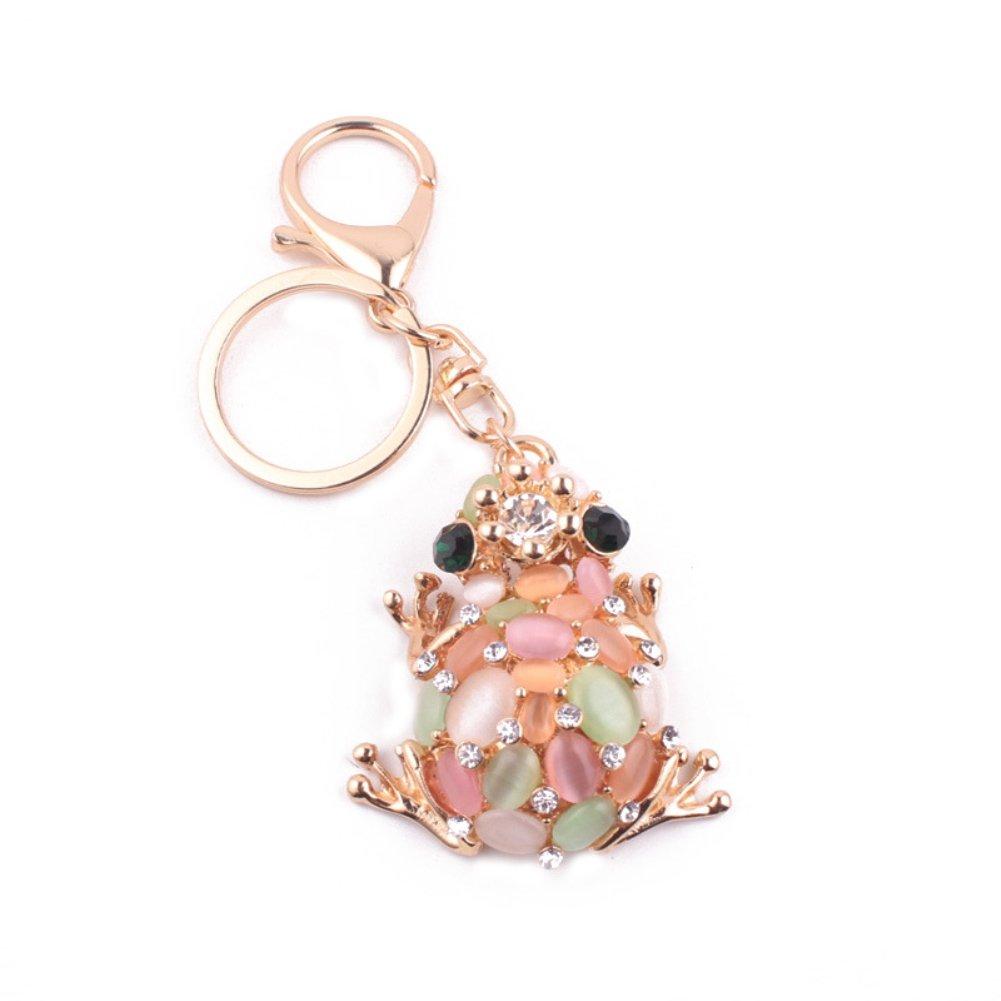 Bangle009 Clearance Sale Cute Frog Rhinestone Keychain Purse Bag Pendant Key Chain Ring Women Men Gift