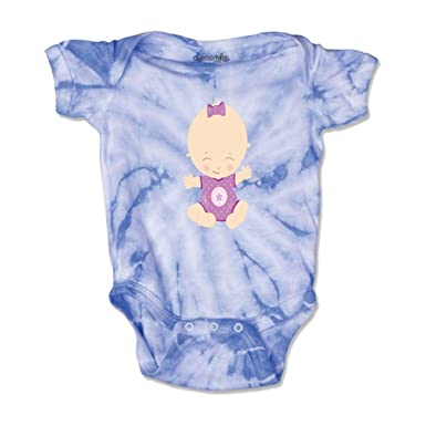 b9c3104dd67d Amazon.com  Baby Girl Purple Bodysuit Boys-Girls Cotton Baby Tie Dye ...
