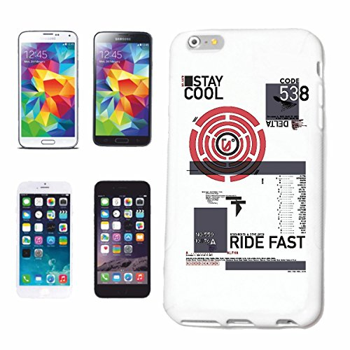 "cas de téléphone iPhone 7+ Plus ""STAY COOL RIDE KEEP COOL FAST DRIVING STREETWEAR FAST MOTORSPORT RACING FASHION"" Hard Case Cover Téléphone Covers Smart Cover pour Apple iPhone en blanc"