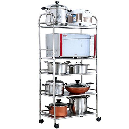 Kitchen Storage Stainless Steel Five Layers Floor-Standing Microwave Rack/Oven Storage Shelf/Pot Rack