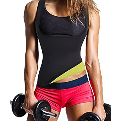 Gotoly Waist Trainer Tummy Fat Burner Sweat Tank Top Weight Loss Shapewear Neoprene at Women's Clothing store