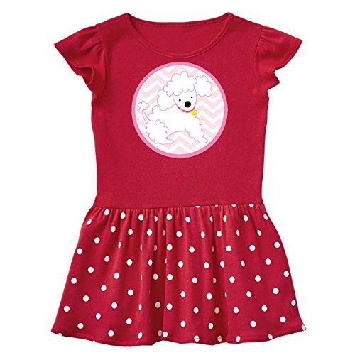 inktastic Poodle Pink Chevron Infant Dress 24 Months Red and Polka Dot (Pink Polka Dot Poodle)