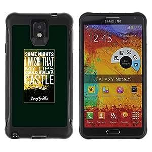 LASTONE PHONE CASE / Suave Silicona Caso Carcasa de Caucho Funda para Samsung Note 3 / Hot Quote Text Sunset Nature