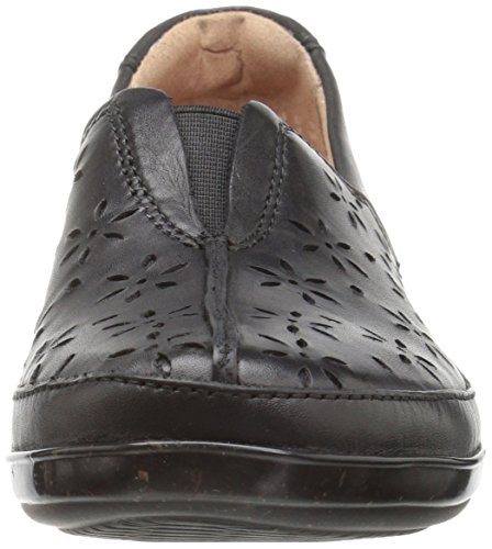 Clarks Womens Everlay Dairyn Slip-on Loafer, Black Leather, 9 M US