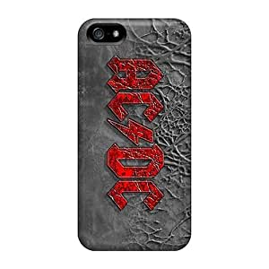 Apple Iphone 5/5s Qzk843sQCu Unique Design Realistic Ac Dc Band Image Shock-Absorbing Hard Cell-phone Case -CassidyMunro