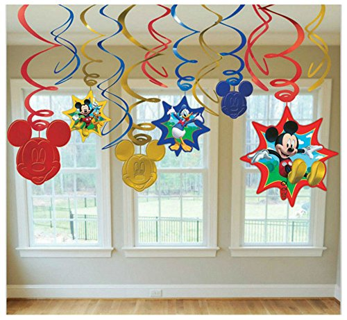 Mouse Trap Costume For Baby (Mickey Mouse Birthday Dangling Swirl Decorations 12 Pieces Party Supplies Favors)