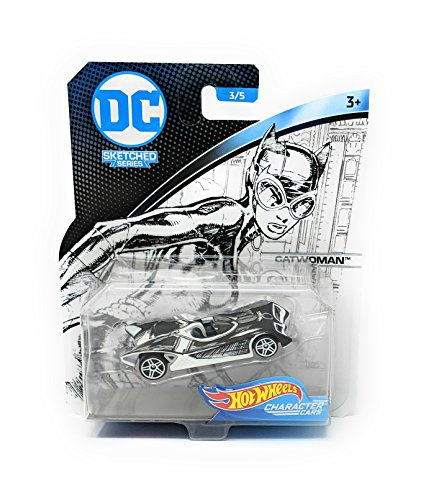 Hot Wheels Character Cars DC Sketched Series Catwoman -