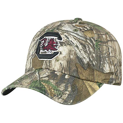 Game South Carolina Gamecocks Camo - Top of the World NCAA South Carolina Fighting Gamecocks Men's Real Tree Camo Adjustable Icon Hat, Real Tree