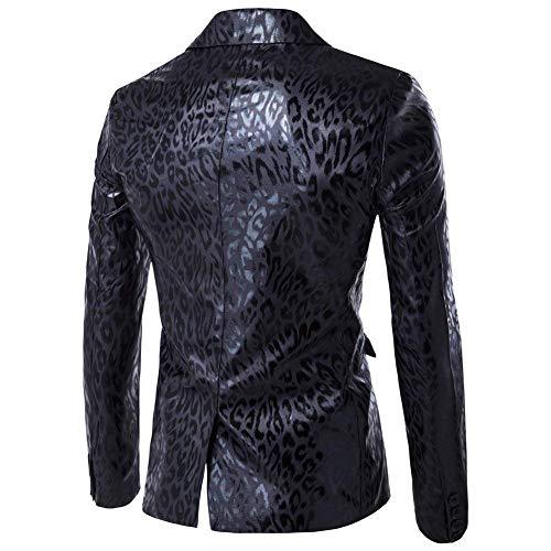 Da Print Lunga Sportiva Schwarz Manica Abbigliamento Cappotto Giacca Uomo Calda Slim Con Fit Sintetica Vintage Blazer In Adelina Pelliccia Leopard Pelle 1y54wgpqUU