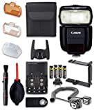 Canon Speedlite 430EX III-RT Flash with Cleaning Pen + Dust Blower + Remote Control + Battery Charger + TTL Cord + U-Bracket