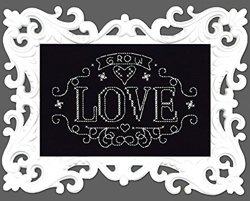 Design Works Crafts Grow Love Chalkboard Counted Cross Stitch Kit, 4 by 6